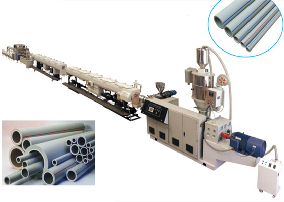 Plastic PPR PE Pipe Extrusion Line High Efficiency 11-110kw Motor Power